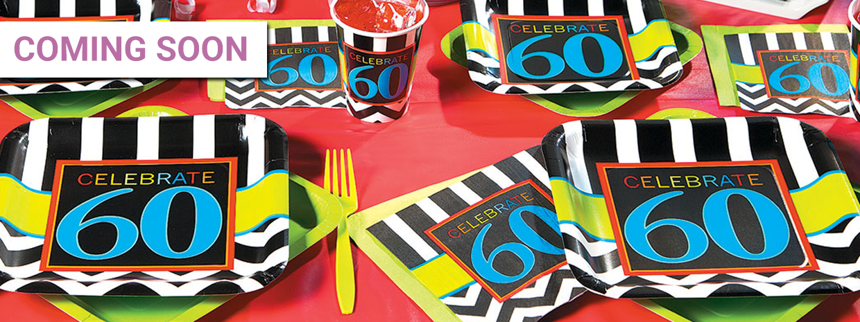 60th Birthday Celebration Party Supplies
