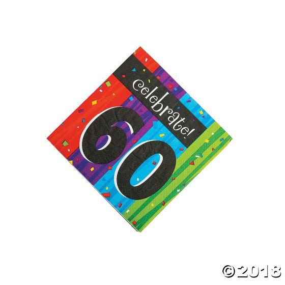 60th Birthday Milestone Celebration Lunch Napkins