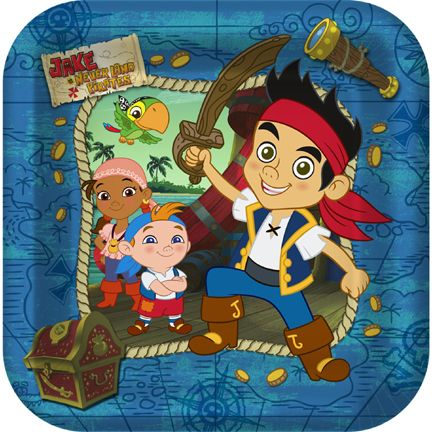 Jake And The Neverland Pirates Dinner Plates Party Supplies Ideas