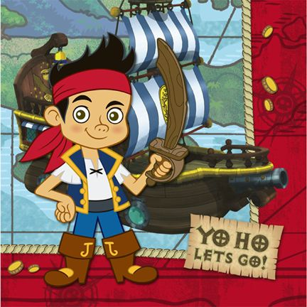 Jake And The Neverland Pirates Napkins Party Supplies Ideas