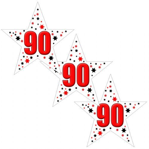 90TH Birthday Star Deco Fetti
