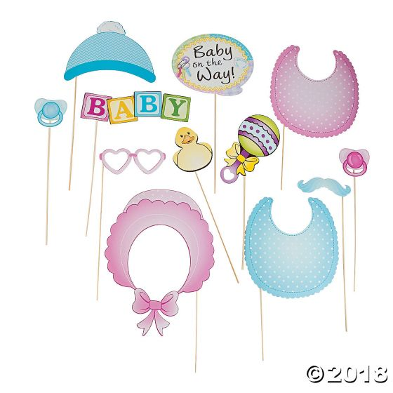Baby Shower Photo Stick Props Party Supplies Ideas Accessories