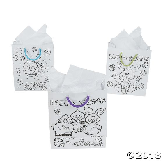 Colour your own easter gift bags party supplies ideas colour your own easter gift bags negle Image collections