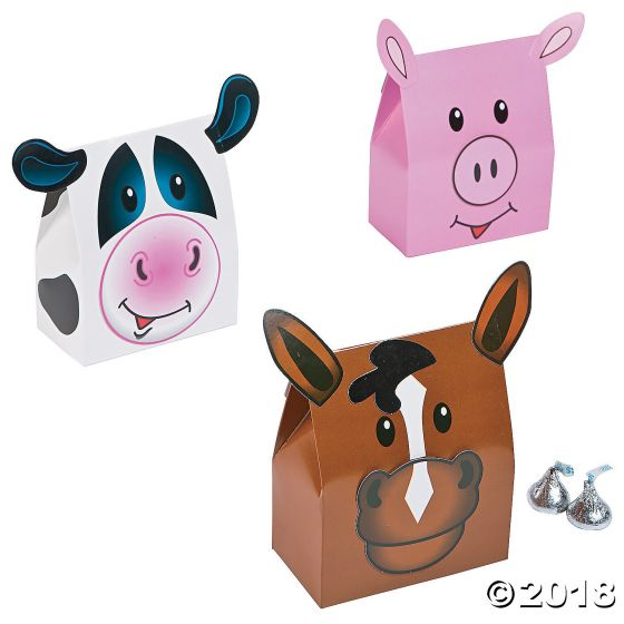 Farm Animal Party Favour Boxes Party Supplies Ideas Accessories