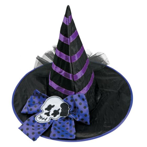 Kids Black And Purple Witch Hat Party Supplies Ideas