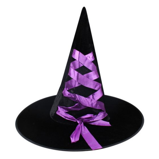 Witch Hat Fancy Ribbon Purple Party Supplies Ideas Accessories