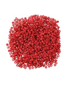 1/2 Lb. of Red Pony Beads