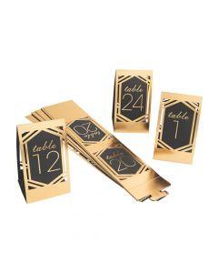 1 - 24 Black and Gold Die Cut Table Numbers