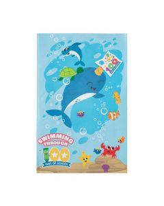 100th Day of School Under the Sea Glyph Sticker Scenes