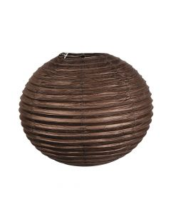 "18"" Chocolate Brown Hanging Paper Lanterns"