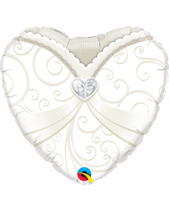 18 Inch Foil Heart Wedding Gown