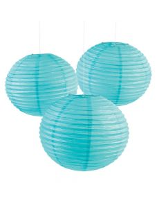 "18"" Light Blue Hanging Paper Lanterns"
