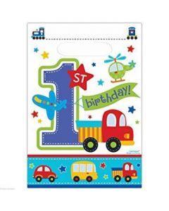 1st Birthday Boy All Aboard Treat Bag