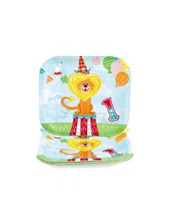 1st Birthday Circus Paper Dessert Plates