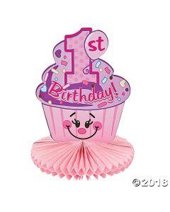 1st Birthday Cupcake Centrepiece