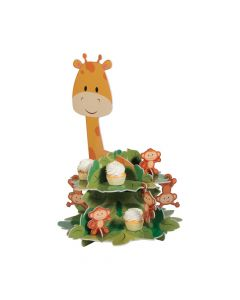 1st Birthday Party Zoo Cupcake Stand