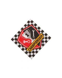 1st Birthday Race Car Beverage Napkins