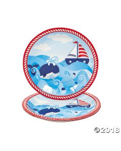 1ST Birthday Sailor Paper Dinner Plates