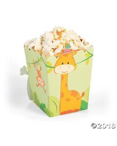 1st Birthday Zoo Popcorn Boxes