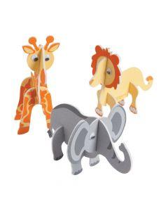 3D Foam Safari Animals Craft Kit