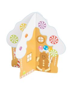 3D Gingerbread House with Stickers
