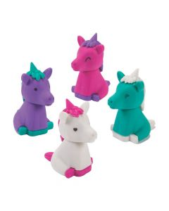 3D Unicorn Erasers