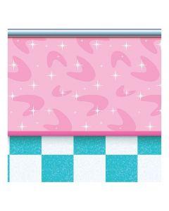 50s Soda Shop Backdrop Banner