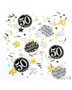 50th Birthday Sparkling Celebration Confetti