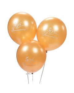 50th Wedding Anniversary Latex Balloons