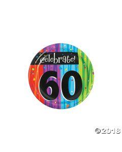 60th Birthday Milestone Celebration Dessert Plates
