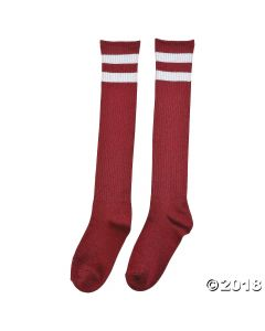 Burgundy Team Spirit Knee-High Socks