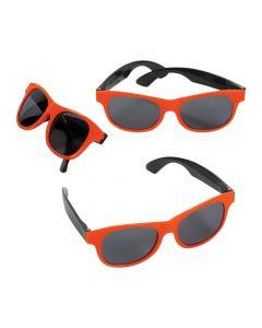 Adult's Orange and Black Two-Tone Sunglasses
