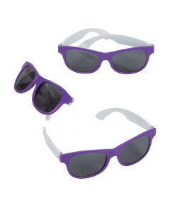 Adult's Purple and White Two-Tone Sunglasses