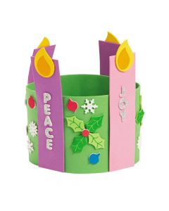 Advent Candle Stand-Up Wreath