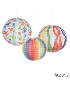 Art Palette Hanging Paper Lanterns
