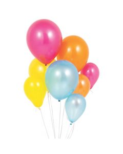 Assorted Size Fiesta Latex Balloons
