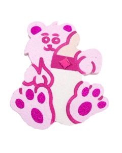 Baby Teddy with Bottle Polystyrene - Pink