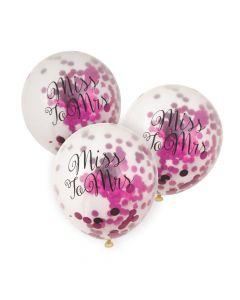 "Bachelorette Pink Foil Confetti 11"" Latex Balloons"