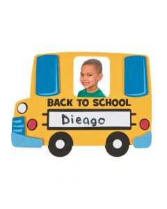 Back-to-School Bus Picture Frame Magnet Craft Kit