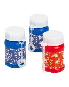 Bandana Print Mini Bubble Bottles