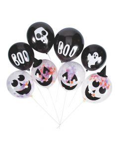 """Basic Boo Confetti 11"""" Latex Balloon Kit"""