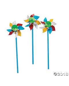 Beach Ball Pinwheels