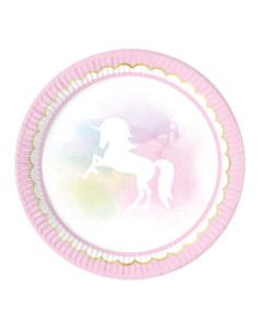 Believe in Unicorn Paper Plates