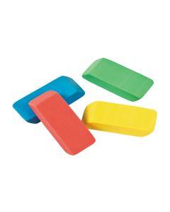 Beveled Rainbow Erasers