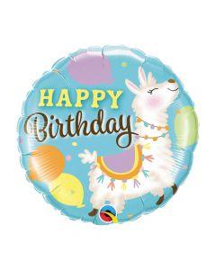 Birthday Llama Mylar Balloon