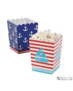 Birthday Sailor Mini Popcorn Boxes