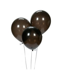 "Black 9"" Latex Balloons"