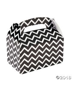 Black Chevron Favour Boxes