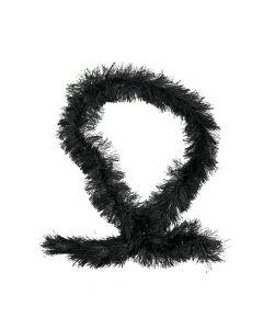 Black Fringe Boas