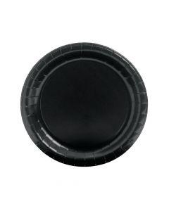 Black Round Paper Dinner Plates